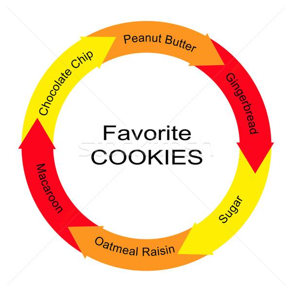 Favori kurabiye kelime daire muhteşem çikolata Stok fotoğraf © mybaitshop