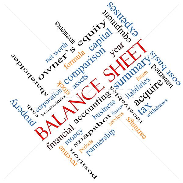 Balance Sheet Word Cloud Concept Angled Stock photo © mybaitshop