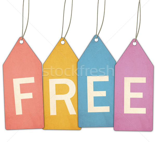 Free Colorful Tags Stock photo © mybaitshop