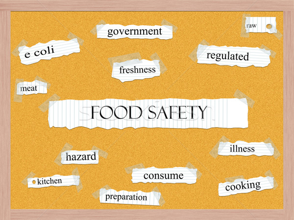Stock photo: Food Safety Corkboard Word Concept