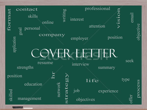 Coprire lettera word cloud lavagna intervista Foto d'archivio © mybaitshop