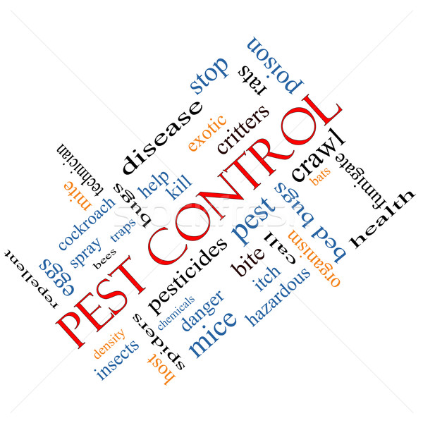 Pest Control Word Cloud Concept Angled Stock photo © mybaitshop