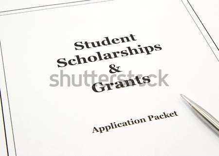 Student lening financiële steun toepassing college Stockfoto © mybaitshop