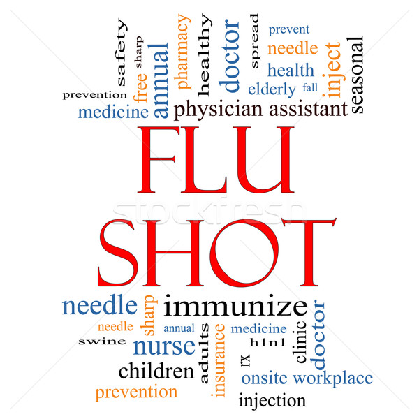 Flu Shot Word Cloud Concept Stock photo © mybaitshop