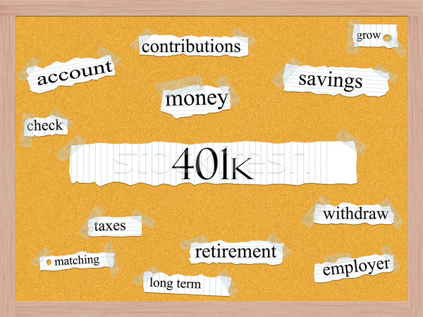 401k Corkboard Word Concept Stock photo © mybaitshop