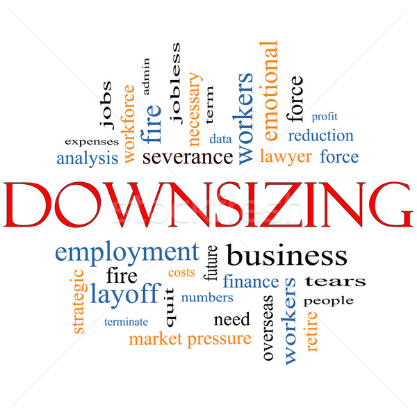 Downsizing Word Cloud Concept Stock photo © mybaitshop