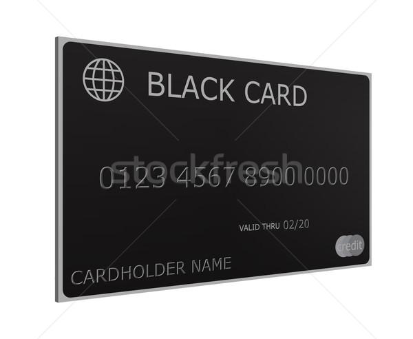 3D zwarte creditcard imitatie compleet nummers Stockfoto © mybaitshop