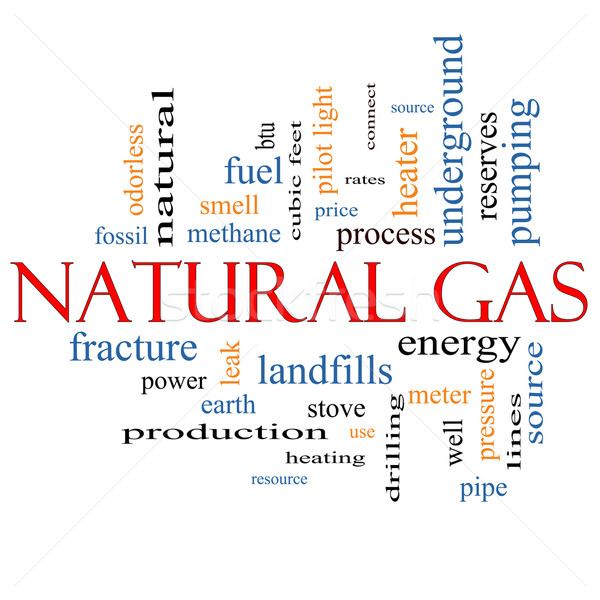 Natural Gas Word Cloud Concept Stock photo © mybaitshop