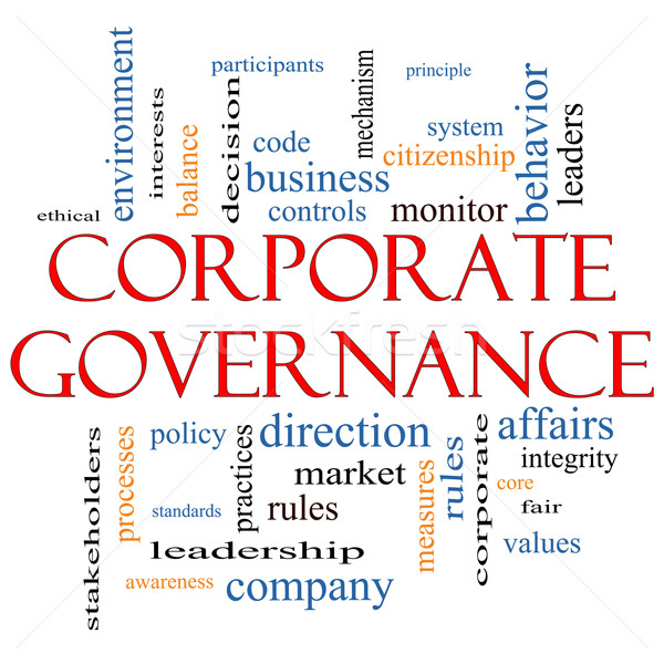 Stock photo: Corporate Governance Word Cloud Concept