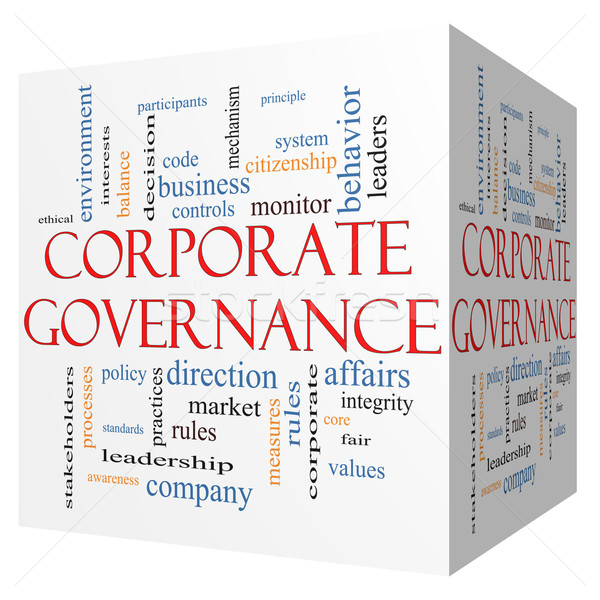 Corporate Governance 3D cube Word Cloud Concept Stock photo © mybaitshop