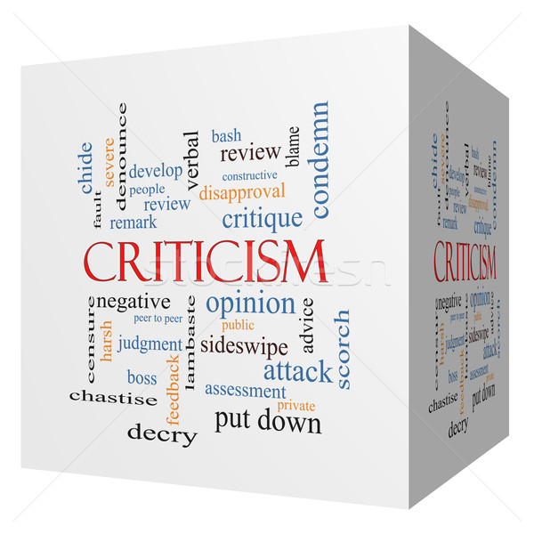 Criticism 3D cube Word Cloud Concept Stock photo © mybaitshop