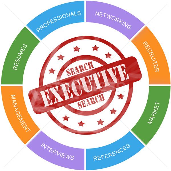 Executive Search Word Circles Stamp Concept Stock photo © mybaitshop