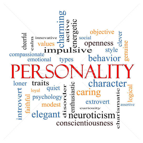 Personality Word Cloud Concept Stock photo © mybaitshop