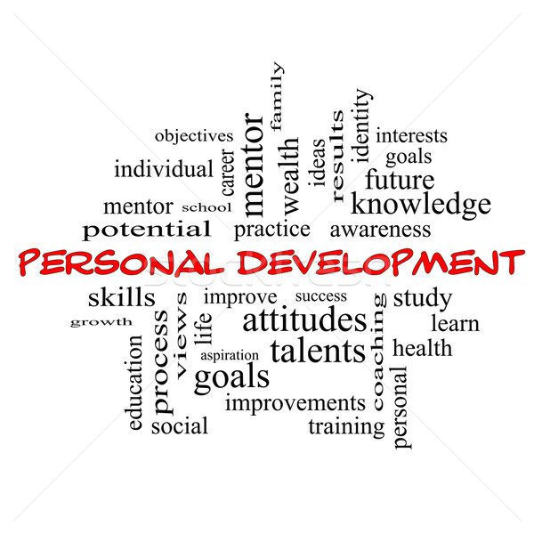 Personal Development Word Cloud Concept in red caps Stock photo © mybaitshop