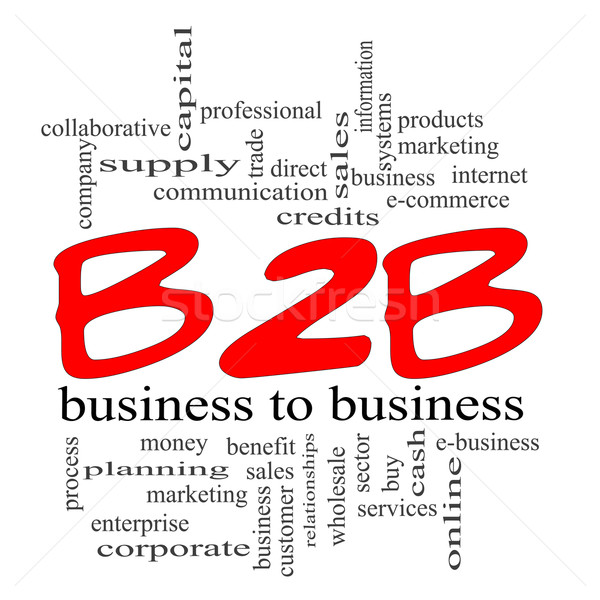 B2B Business to Business Red Scribble Concept Stock photo © mybaitshop