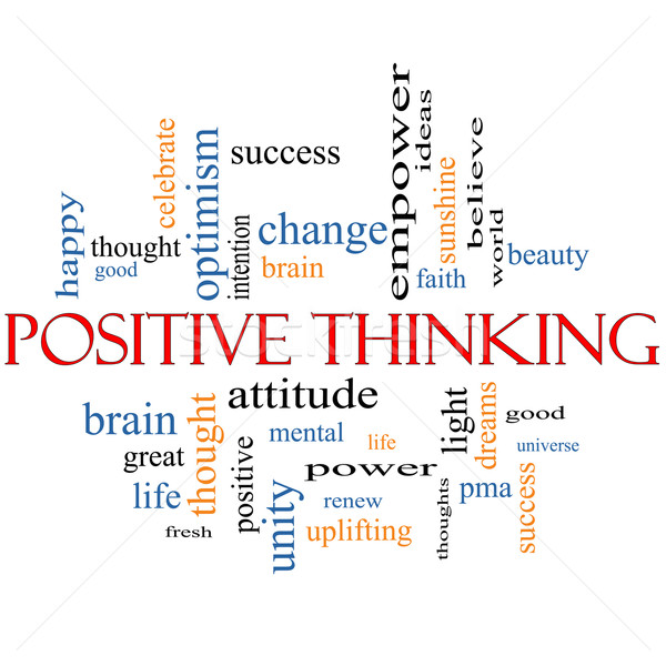 Positive Thinking Word Cloud Concept Stock photo © mybaitshop