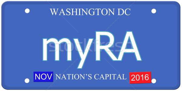 Вашингтон номерной знак имитация слово Постоянный Сток-фото © mybaitshop