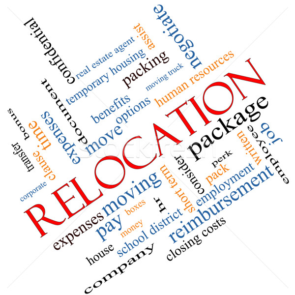 Relocation Word Cloud Concept Angled Stock photo © mybaitshop