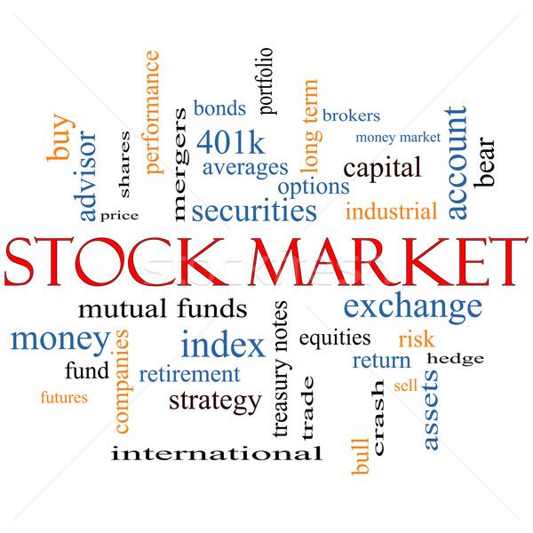 Фондовый рынок слово облако обмена риск Сток-фото © mybaitshop