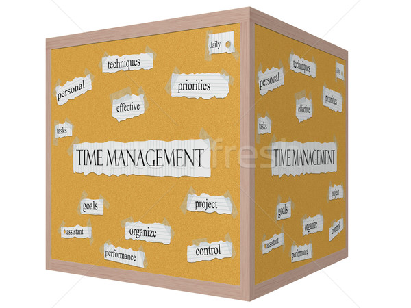 Time Management 3D cube Corkboard Word Concept Stock photo © mybaitshop