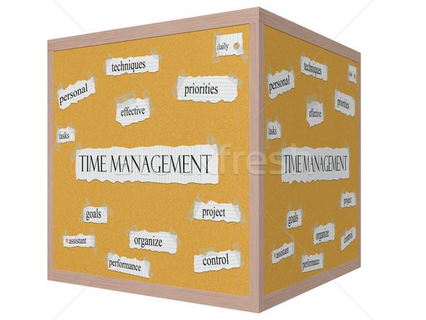 Időbeosztás 3D kocka szó nagyszerű feladatok Stock fotó © mybaitshop