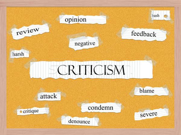Criticism Corkboard Word Concept Stock photo © mybaitshop