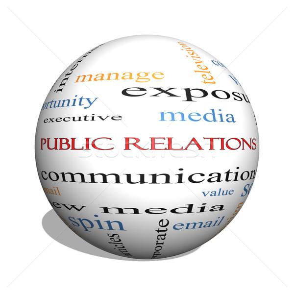 Public Relations 3D sphere Word Cloud Concept Stock photo © mybaitshop