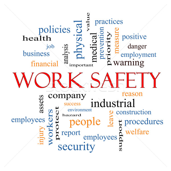Work Safety Word Cloud Concept Stock photo © mybaitshop