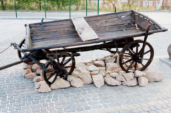 Old cart in nature Stock photo © mycola