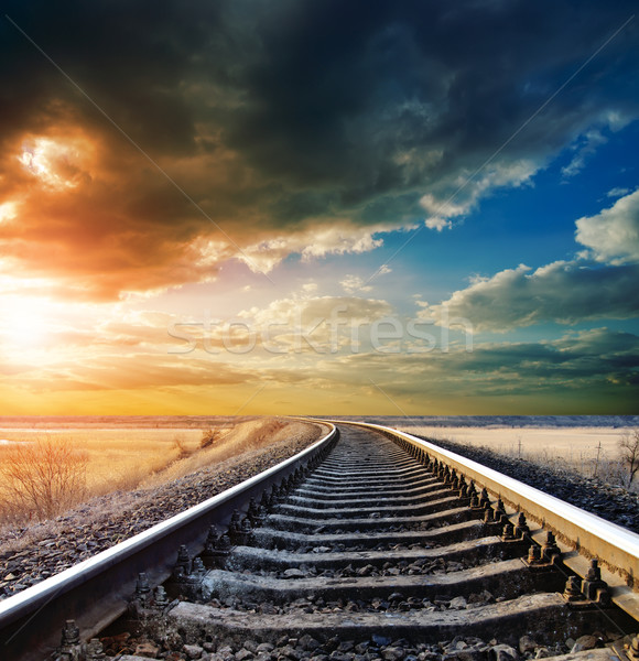 railway to horizon Stock photo © mycola