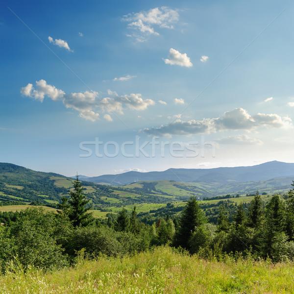 cloudy sky over mountains. Ukraine, Carpathians Stock photo © mycola