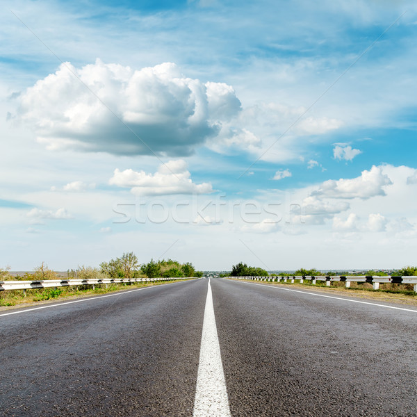 asphalt road and clouds over it Stock photo © mycola