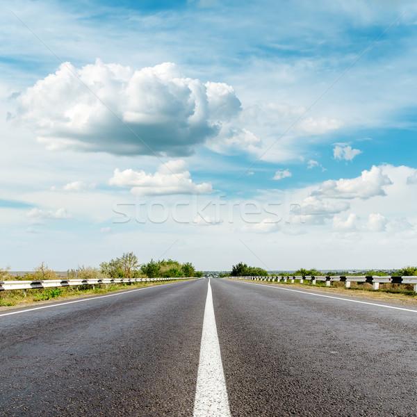Asfalt yol bulutlar gökyüzü ışık güzellik Stok fotoğraf © mycola