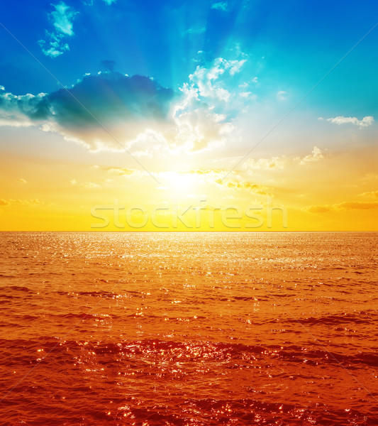 red sea and sunset with clouds Stock photo © mycola