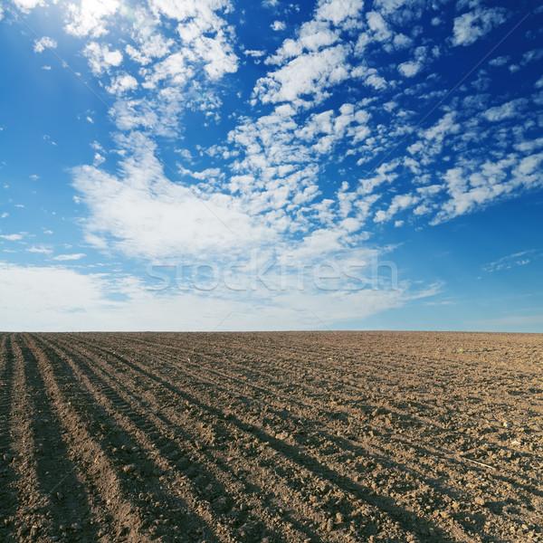 черный культурный области Blue Sky небе пейзаж Сток-фото © mycola