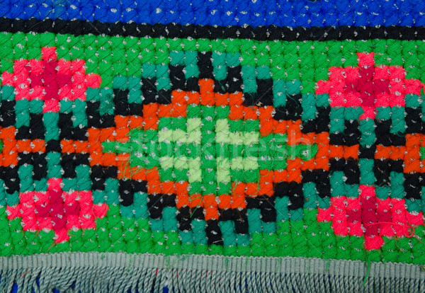 embroidered good by cross-stitch pattern. ukrainian ethnic ornament Stock photo © mycola