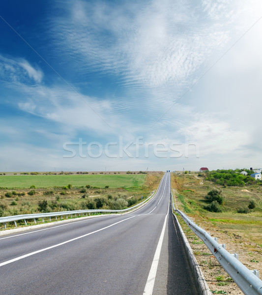 road to horizon and sky with clouds Stock photo © mycola