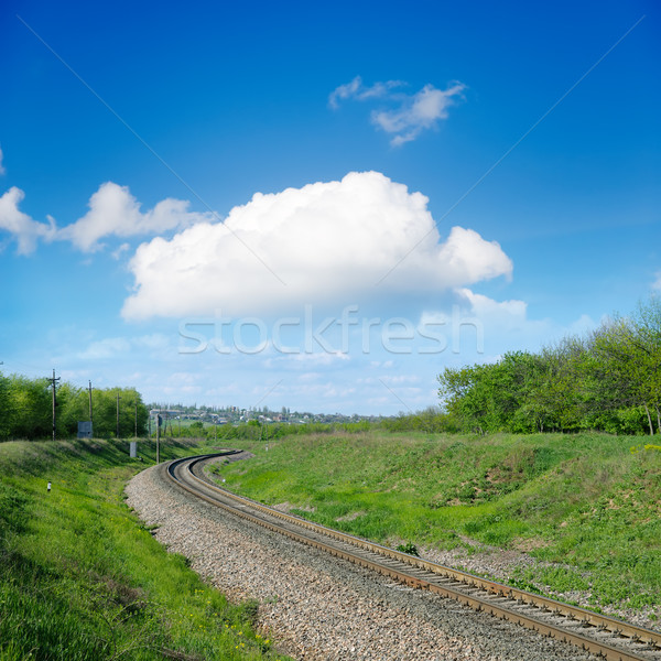 railroad to horizon Stock photo © mycola