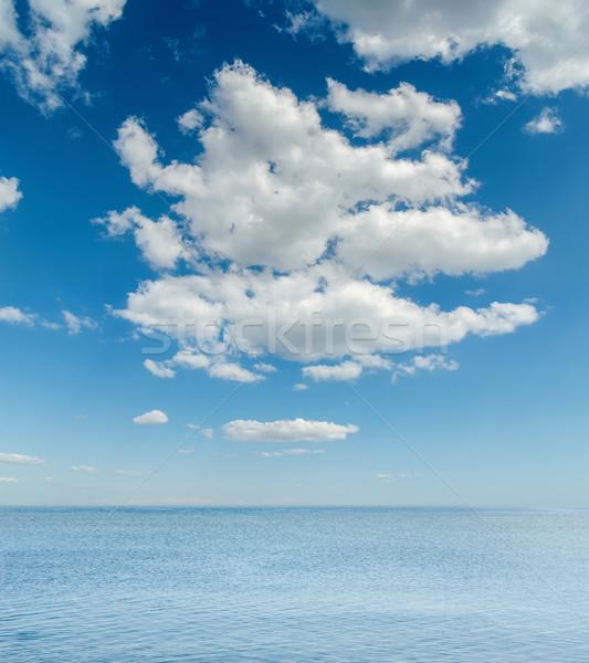 Alto nubes mar paisaje fondo verano Foto stock © mycola