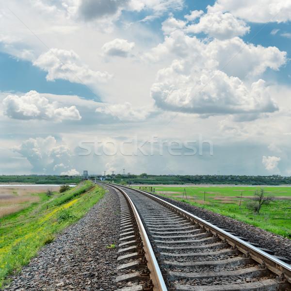 Horyzoncie mętny niebo drogowego krajobraz Zdjęcia stock © mycola