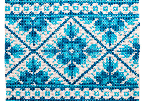 embroidered good by cross-stitch pattern Stock photo © mycola
