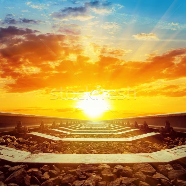 Fantastyczny wygaśnięcia słońce charakter krajobraz Zdjęcia stock © mycola