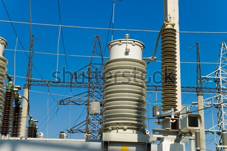 switch in high-voltage substation on 110 000 volt Stock photo © mycola