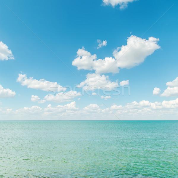 лазурный морем синий облачный небе фон Сток-фото © mycola