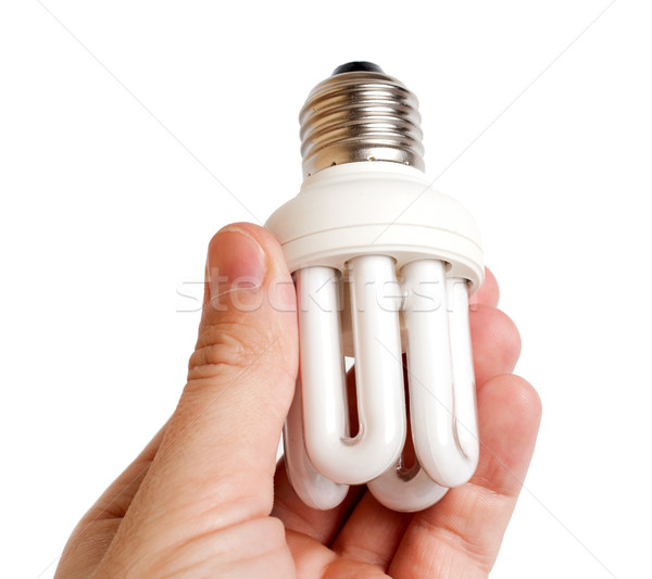 modern lamp in hand Stock photo © mycola