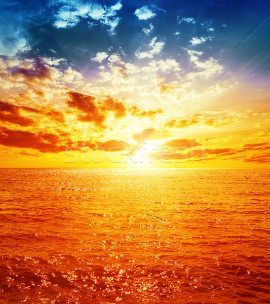 Bom laranja pôr do sol mar água natureza Foto stock © mycola