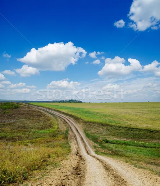 Stock photo: winding rural road