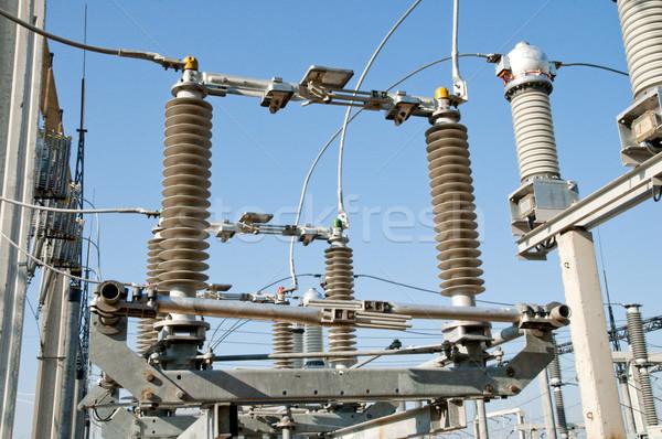 一般的な 表示 風景 業界 電源 工場 ストックフォト © mycola