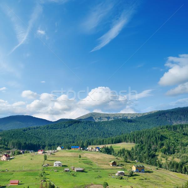 Carpathian mountains in summer, Bukovel region, Ukraine Stock photo © mycola