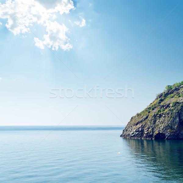 облака морем утес небе воды природы Сток-фото © mycola